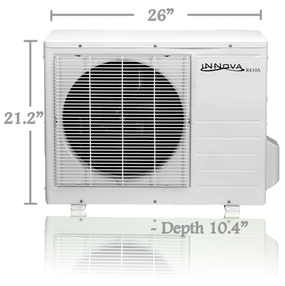 Innova inc products 12 000 btu innova ductless mini for 12000 btu window air conditioner room size